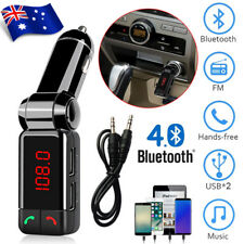 Hands-free Bluetooth Car FM Transmitter USB Charger Adapter MP3 Player