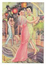 Zhi Yin : GLIDING LIKE CELESTIAL BEINGS, BEAUTIFUL ASIAN WOMEN DANCING Postcard!