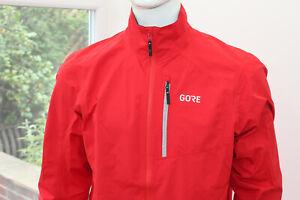 BNWT GTX Gore Wear Mens Paclite Plus Biking Jacket Red Gore-Tex MTB Enduro XL