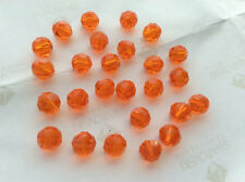 (1000) 6MM FACETED SALMON PINK PLASTIC BEADS FOR LURES / CRAFTS New-mmmm