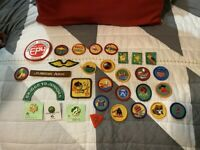 NEW LOT OF GIRL SCOUT PATCHES BADGES & PINS 31 TOTAL UNUSED