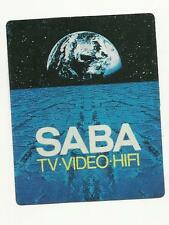 ADESIVO VINTAGE STICKER  SABA TV VIDEO HIFI