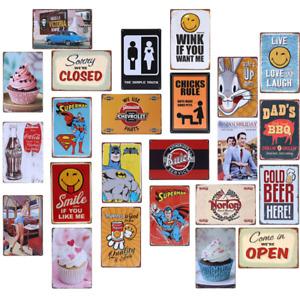 Metal Sign Retro Tin Vintage Plaques Bar Club Wall Decor Antiques Comics  20*30