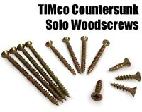 200x TIMco 8g 4mm Solo Wood Screws Zinc Yellow Pozi Countersunk Chipboard Fixing