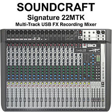 SOUNDCRAFT SIGNATURE 22MTK Multi-Track FX USB Recording Mixer