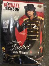 Michael Jackson Pop Star 80S icona Giacca Militare Nera Costume XL
