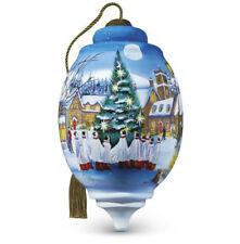 Christmas Choir Ornament Ne' Qwa Art Reverse Painted Glass Sarah Summers NO BOX