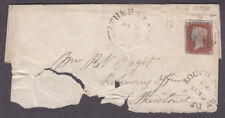 "1841 1d RED BROWN PLATE 56 LETTERS "" G - K "" FROM ASHBURY DE LA ZOUCH ON FRONT"
