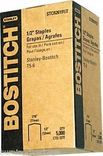 """Case of 20 boxes STCR2619 1/2"""", 12mm BOSTITCH PowerCrown Staples, 5000/Box"""
