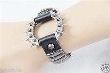 New Fashion Punk Rock Gothic Style Leather wristband Studs Bracelet Women/Men