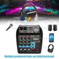 TU04 BT Sound Mixing Console Record 48V Phantom 4 Channels Audio Mixer USB Y7L6