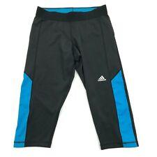 Adidas Climalite Cropped Leggings Women's Medium Fitted Running Gym Pants Black