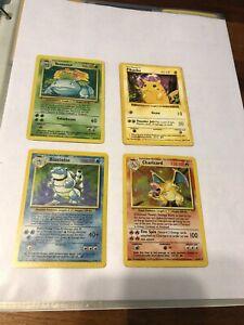 Complete Pokemon Base & Fossil Sets 102/102 W Red Cheeks Pikachu Charizard