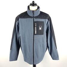 Spyder Fleecejacke Herren DE 56 US XXL Grau Schwarz Outdoor Jacke