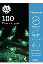 Ge String-A-Long 100-Count Constant Green Incandescent Christmas String Lights