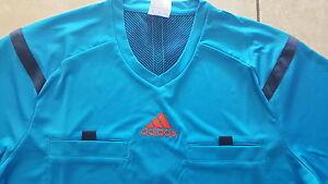 Adidas neu Schiedsrichter Trikot blau Größe XL kurz arm Ref 14 JSY climacool
