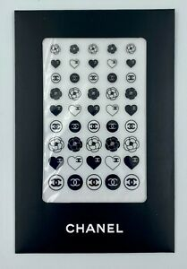 CHANEL NAIL STICKERS SET BLACK WHITE LOGO VIP GIFT