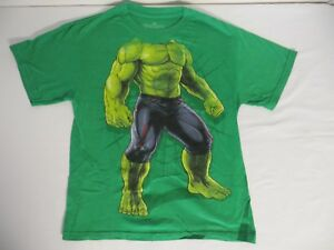 Marvel Avengers Green Incredible Hulk Graphic Tee Size Medium Easy Costume !