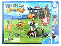 NIB Medieval Knights Accessories Pack 40 Pieces Horses Weapons Figurines Sealed