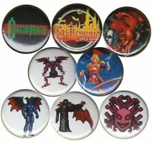 Castlevania: Set of 8 Buttons-Pins-Badges Simon's Quest snes Aria of Sorrow n64