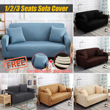 1/2/3 Seats Spandex Elastic Stretch Sofa Armchair Cover Couch + Free Pillow Case