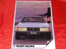TALBOT Tagora GLS DT SX Prospekt von 1983