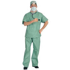 Surgeon Doctor Hospital Clinic Scrubs Adult Halloween Costume Men Size Standard