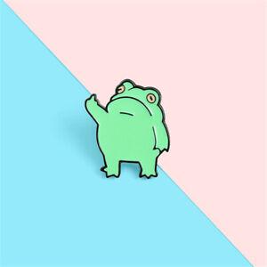 Jewelry Funny Brooch Novelty Animal Cute Badge Lapel Pins Frog Enamel Pin