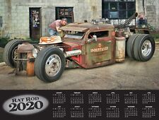 2020 RAT ROD Automobile Car Calendar Old School Truck Hot Rod Ford Chevy Dodge