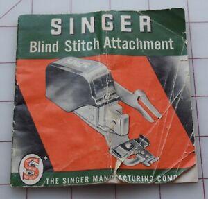 RP Vintage owner's manual for Singer Blindstitch attachment