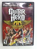PS2 Guitar Hero: Aerosmith (Sony PlayStation 2, 2008) Complete Tested
