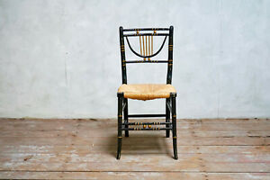 Antique Regency Style Faux Bamboo Chair