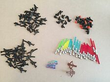 Huge 100 Piece LEGO Star Wars Weapons Lot Lightsabers Blasters Rifles Pistols
