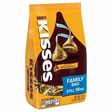 NEW SEALED HERSHEY'S KISSES MILK CHOCOLATE WITH ALMONDS FAMILY BAG 18 OZ