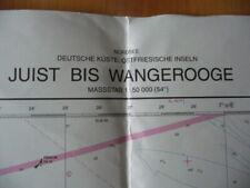 Ältere befahrene Seekarte zu Dekorationszwecken: Juist bis Wangerooge, Nr. 89