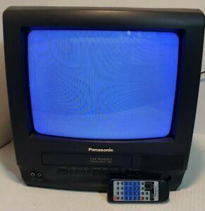 "PANASONIC Omnivision FM Radio VHS PV-C1320 Black 13"" CRT Television & Remote"