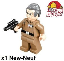 Lego - Figurine Minifig Star Wars Grand Moff Tarkin + weapon sw741 75150 NEUF