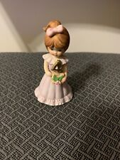 "Porcelain ""Growing Up Birthday Girls"" Age 4 Blonde Figurine - Enesco 1981"