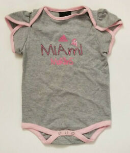 Adidas MLB Miami Marlins Baby Girl's Short Sleeve Shirt One Piece Size 18 Months