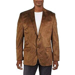 $295 Ralph Lauren Faux Suede Classic Fit Two-Button Blazer Copper Size 43 Reg