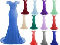New Long Chiffon Prom Dress Evening Formal Party Ball Gown Bridesmaid Size 6-22+