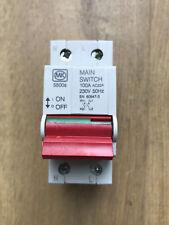 MK 100A Main Double Pole 2 Module Isolator Switch