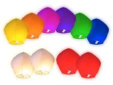 Lot de 50 Lanternes volantes multicolors colorées chinoise fête soirée mariage
