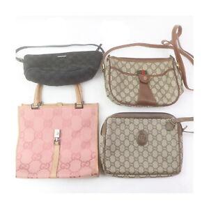 Gucci Gucci Plus Canvas PVC Hand/Shoulder Bag Clutch 4pc set 523806