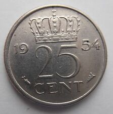 NETHERLANDS 25 CENTS 1954