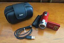 Vivitar DVR-528 Camcorder - Red