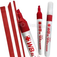Pack Of 4 Red WB SL Chisel Tip Dry Wipe Markers. Whiteboard, Flipchart, Marker