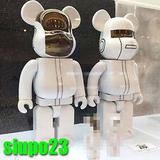 Medicom 400% Bearbrick ~  Daft Punk Be@rbrick White Suits Ver 2p