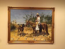 The Sentinel 1889 Remington Oil Painting Reproduction framed