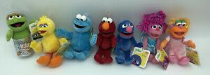 7 Gund Sesame Street Elmo/Grover/Big Bird/Oscar/Cookie/Abby/Zoe Bean Bag Plush